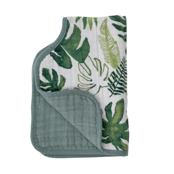 Little Unicorn Muslin Burp Cloth - Tropical Leaf