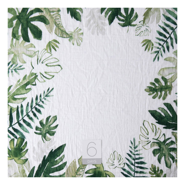Little Unicorn Cotton Muslin Photo Blanket - Tropical Leaf