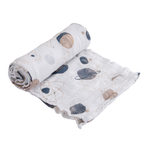 Little Unicorn Cotton Muslin Swaddle Wrap - Planetary
