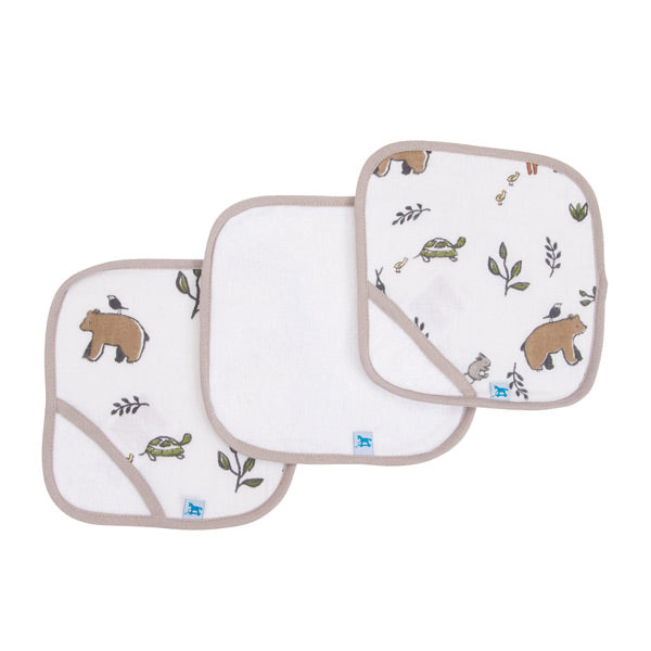 Little Unicorn Washcloth Set - Forest Friends