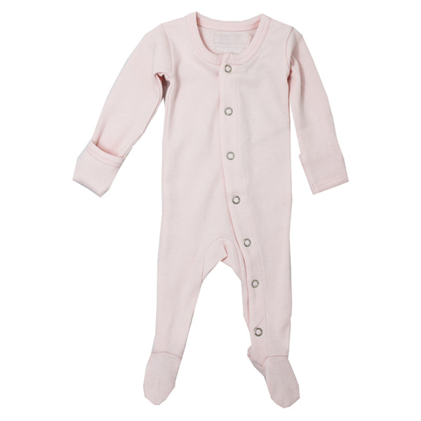 L'ovedbaby Organic Gl'oved Footed Overall - Blush