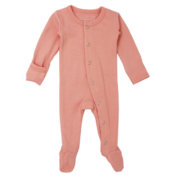 L'ovedbaby Organic Gl'oved Footed Overall - Coral
