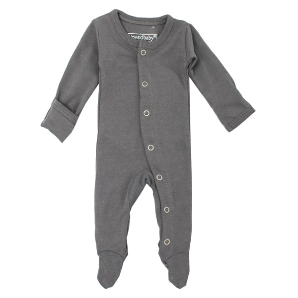 L'ovedbaby Organic Gl'oved Footed Overall - Grey