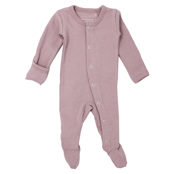 L'ovedbaby Organic Gl'oved Footed Overall - Lavender