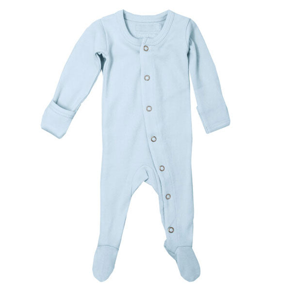 L'ovedbaby Organic Gl'oved Footed Overall - Moonbeam