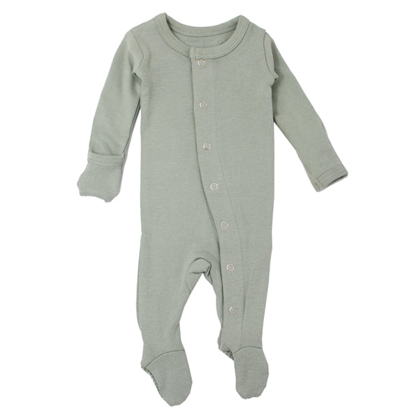 L'ovedbaby Organic Gl'oved Footed Overall - Seafoam