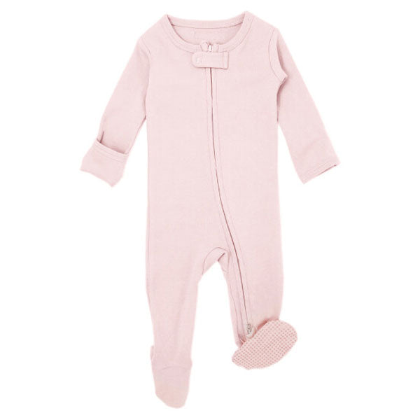 L'ovedbaby Organic Zipper Footed Overall - Blush
