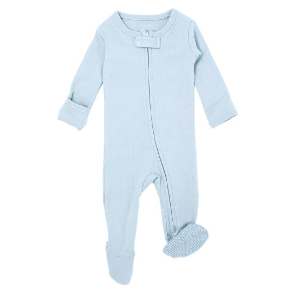 L'ovedbaby Organic Zipper Footed Overall - Moonbeam