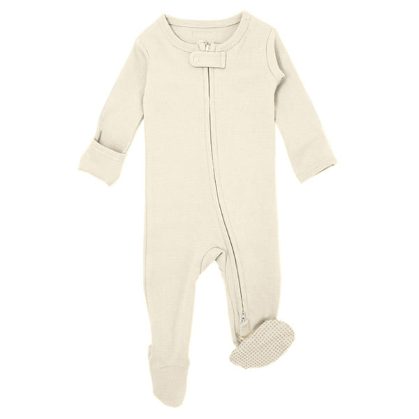 L'ovedbaby Organic Zipper Footed Overall - Beige