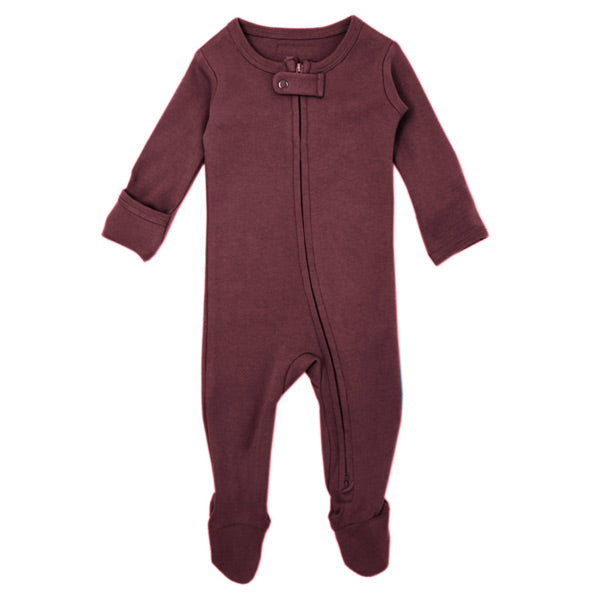 L'ovedbaby Organic Zipper Footed Overall - Eggplant