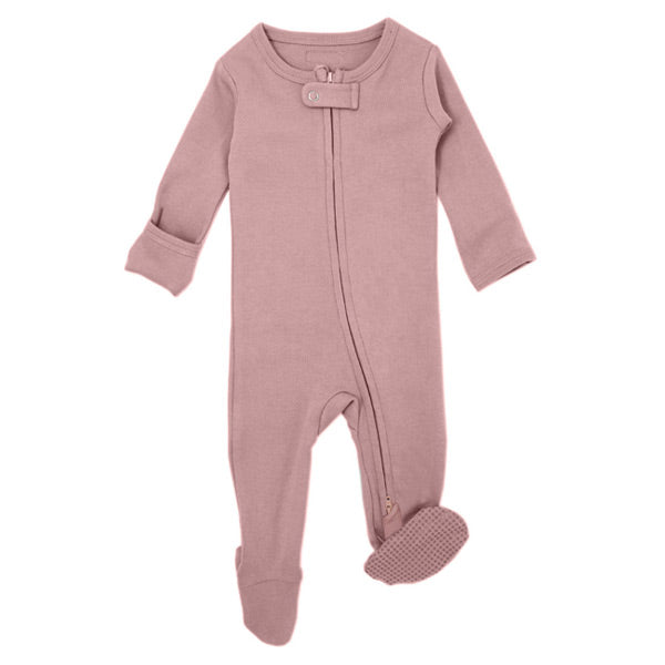 L'ovedbaby Organic Zipper Footed Overall - Mauve