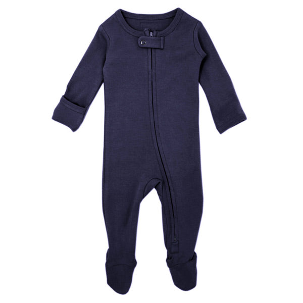 L'ovedbaby Organic Zipper Footed Overall - Navy