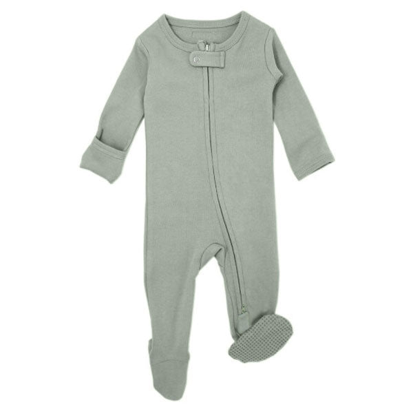 L'ovedbaby Organic Zipper Footed Overall - Seafoam