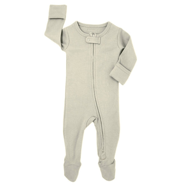 L'ovedbaby Organic Zipper Footed Overall - Stone