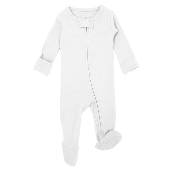 L'ovedbaby Organic Zipper Footed Overall - White