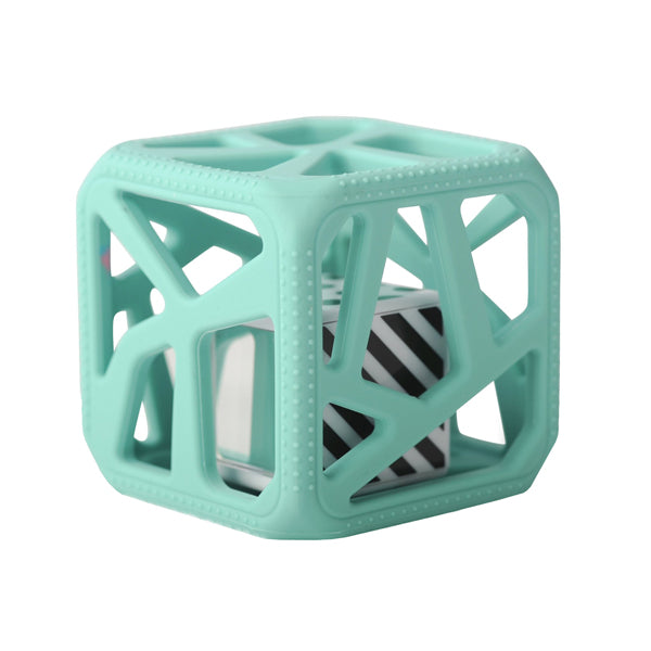 Malarkey Kids Chew Cube Teether Rattle - Mint