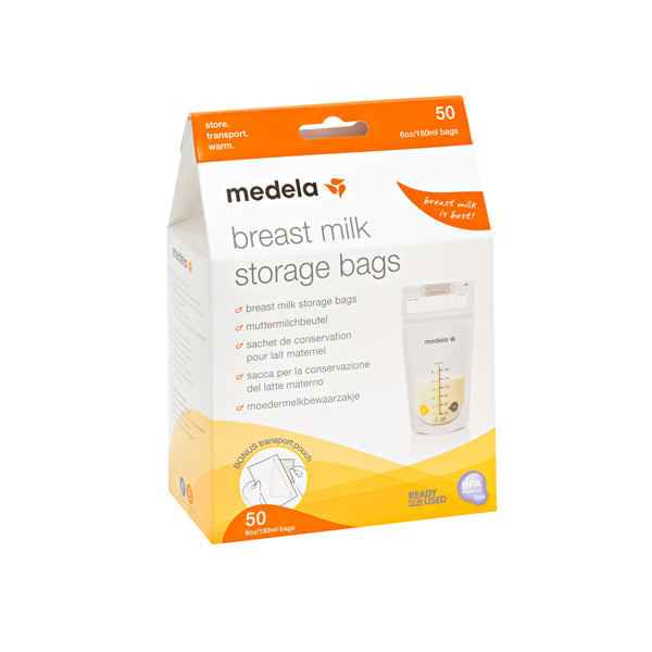 Medela Pump & Save Breastmilk Bags - 50pk