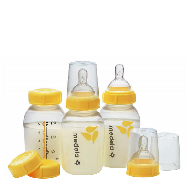 Medela Wide Neck Breastmilk Bottle 150ml with Teat - 3pk