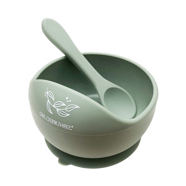 One.Chew.Three Silicone Scoop Bowl and Spoon Set