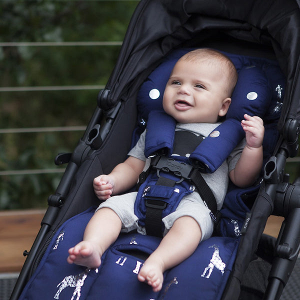 Outlook Get Foiled Harness Strap Cover Set - Navy with Silver Spots