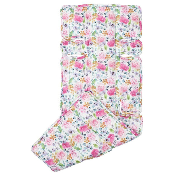 Outlook Watercolour Cotton Pram Liner - Floral Delight
