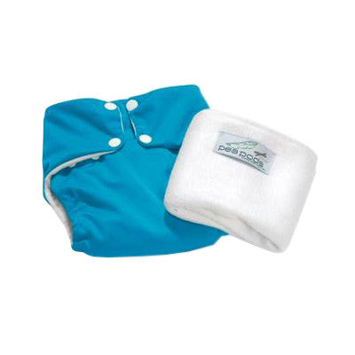 Pea Pods One Size Reusable Nappy - Aqua