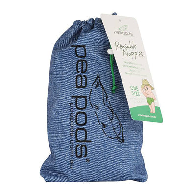 Pea Pods One Size Reusable Nappy - Print