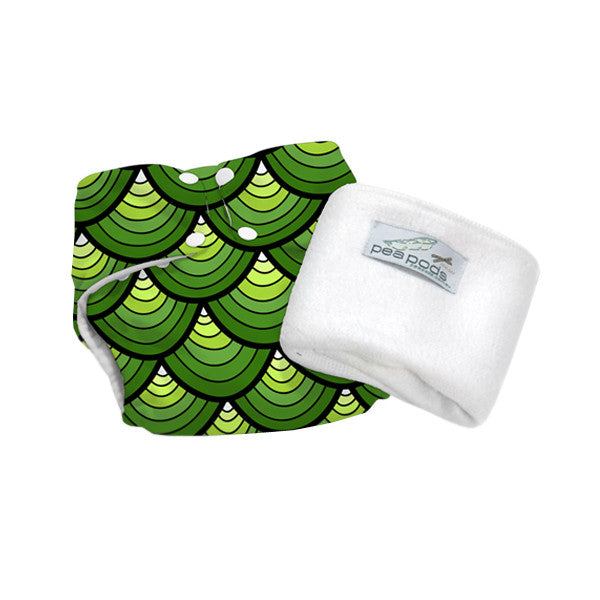 Pea Pods One Size Reusable Nappy - Dragon Scales