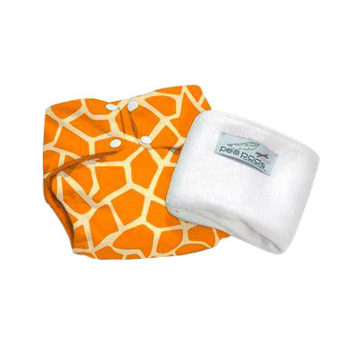 Pea Pods One Size Reusable Nappy - Giraffe Print