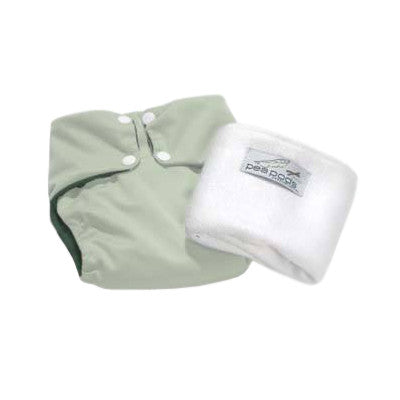 Pea Pods One Size Reusable Nappy - Mint