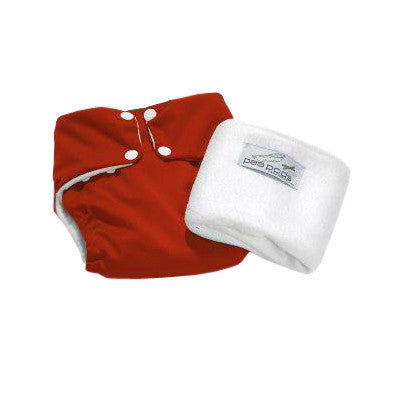 Pea Pods One Size Reusable Nappy - Red