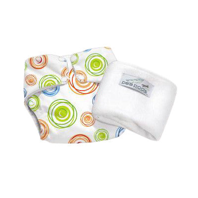 Pea Pods One Size Reusable Nappy - Swirl Print