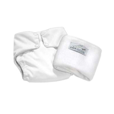 Pea Pods One Size Reusable Nappy - White