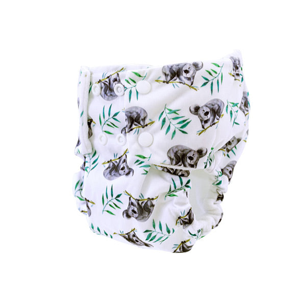 Pea Pods One Size Reusable Nappy - Sleepy Koala