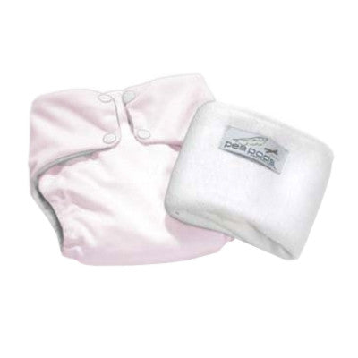 Pea Pods One Size Reusable Nappy - Pink