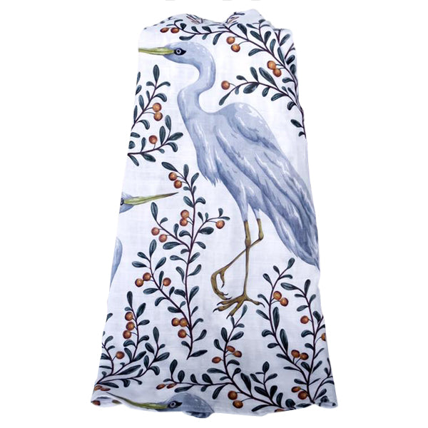 Pop Ya Tot Organic Cotton Swaddle Wrap - Kushiro Crane