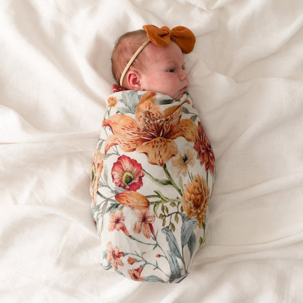 Pop Ya Tot Organic Cotton Swaddle Wrap - Le Piccadilly