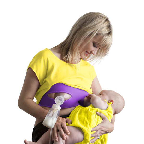 Pump Strap Hands Free Pumping Strap - Purple