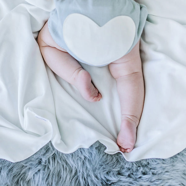 Sapling Organic Heart Bloomers - Dove Grey