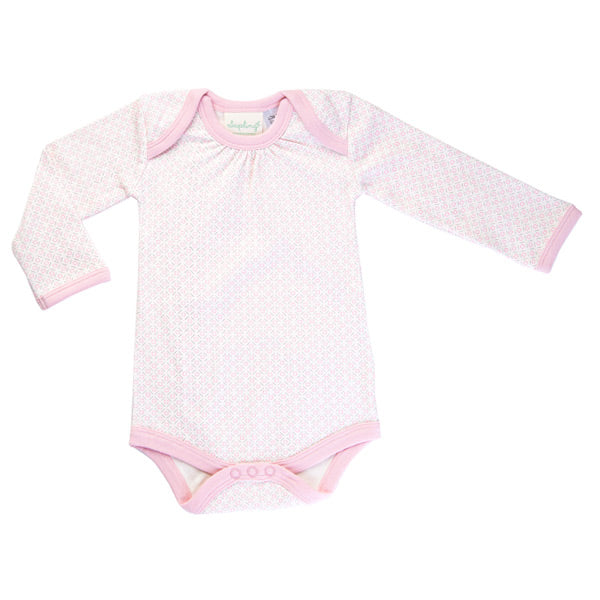 Sapling Organic Long Sleeve Bodysuit - Dusty Pink