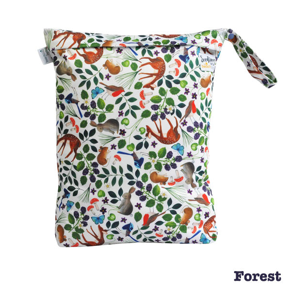 Seedling Baby Beach Bag Reusable Wet Bag - Forest