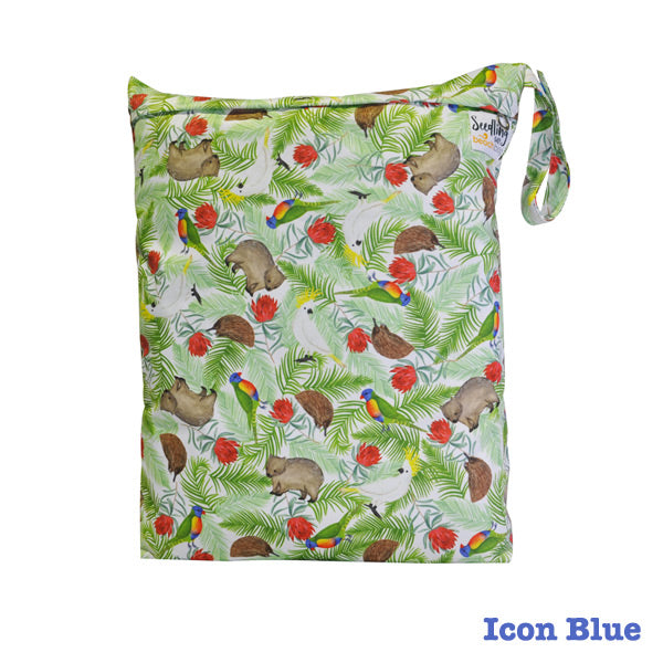 Seedling Baby Beach Bag Reusable Wet Bag - Icon Blue