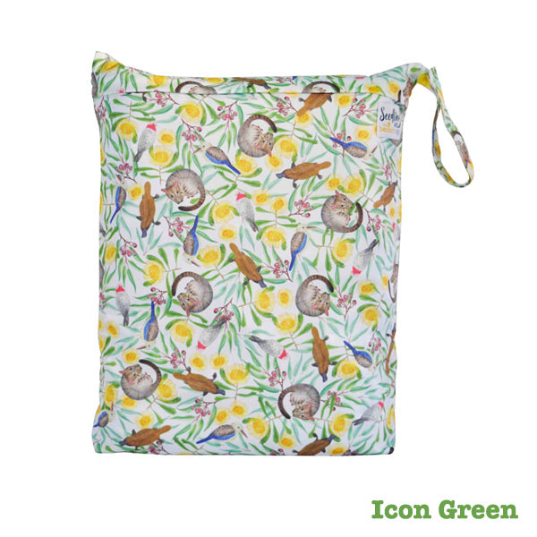Seedling Baby Beach Bag Reusable Wet Bag - Icon Green