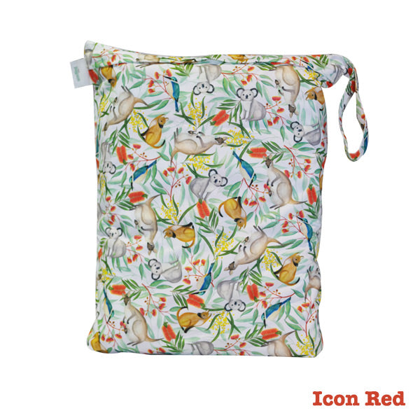 Seedling Baby Beach Bag Reusable Wet Bag - Icon Red