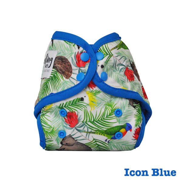 Seedling Baby Mini-Fit Newborn Pocket Nappy - Icon Blue