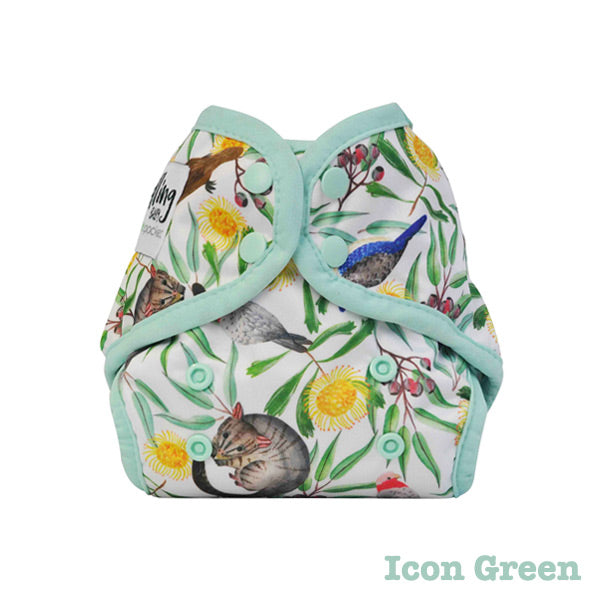Seedling Baby Mini-Fit Newborn Pocket Nappy - Icon Green