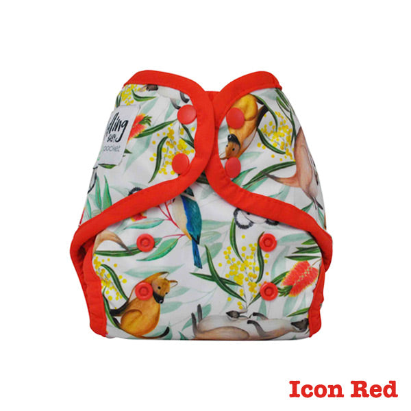 Seedling Baby Mini-Fit Newborn Pocket Nappy - Icon Red