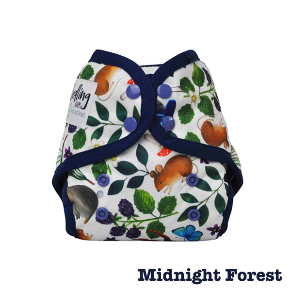 Seedling Baby Mini-Fit Newborn Pocket Nappy - Midnight Forest