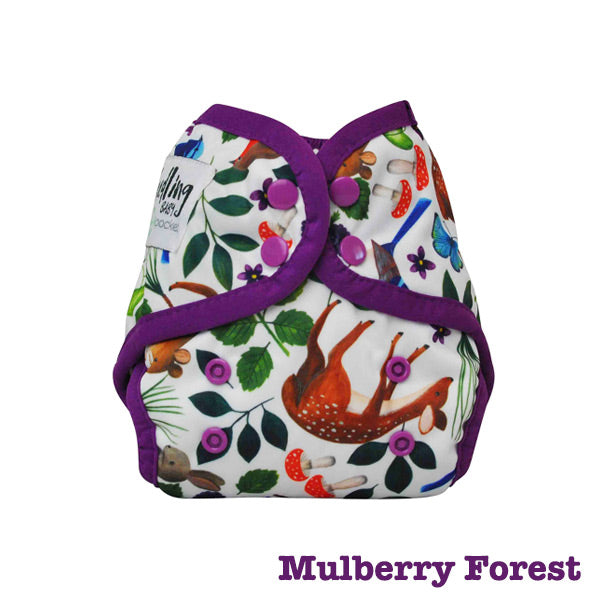 Seedling Baby Mini-Fit Newborn Pocket Nappy - Mulberry Forest