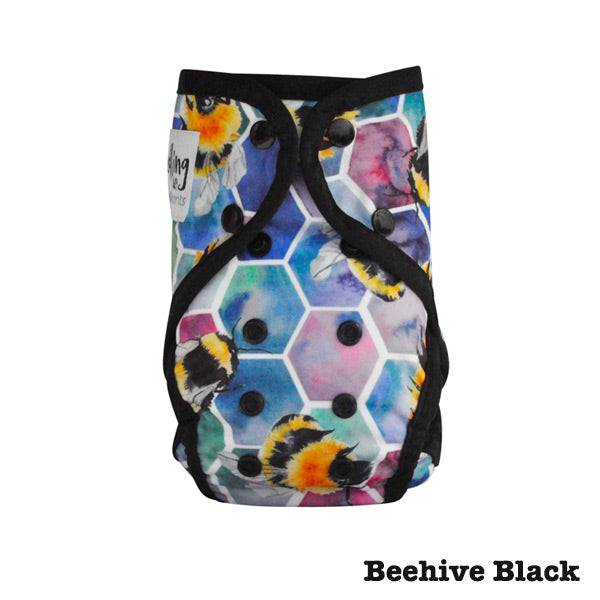 Seedling Baby Paddle Pants Reusable Swim Nappy - Beehive Black
